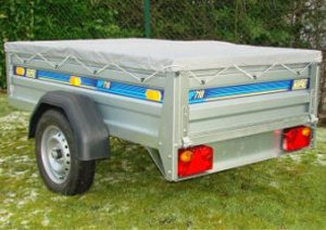 trailer for hire with canvas roof