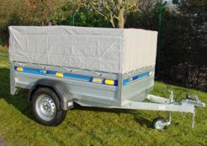 utility trailer with canvas roof